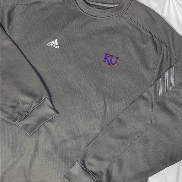 adidas Other - Adidas Kansas University Crew Sweatshirt Sz 2XL